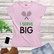 Tennis Court Sports Women T Shirt