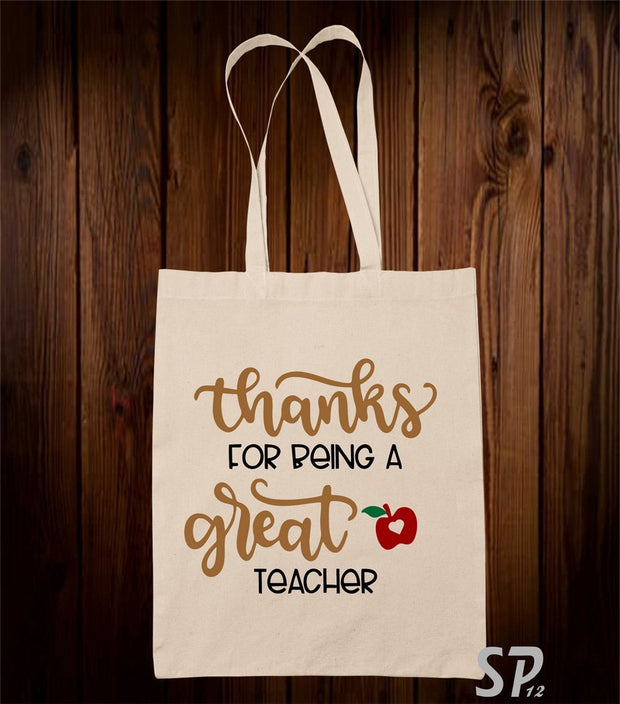 Thanks For Being A Great Teacher Tote Bag