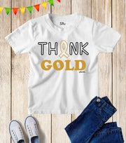 Think Gold Awareness Kids T Shirt
