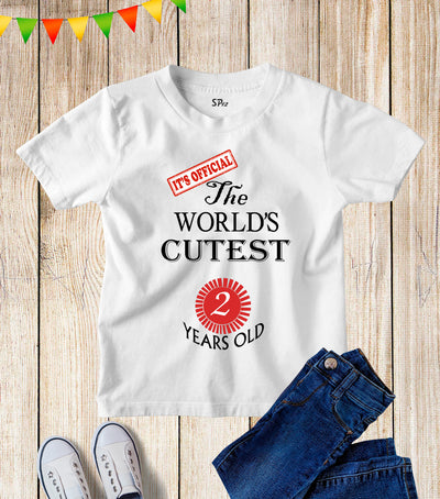 Two Years Old Kids Birthday T Shirt