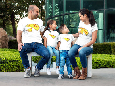 Two Slices Missing Pizza Family Matching T Shirts