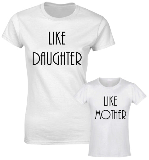 Like Daughter Like Mother Mum Mummy Family Matching T shirts