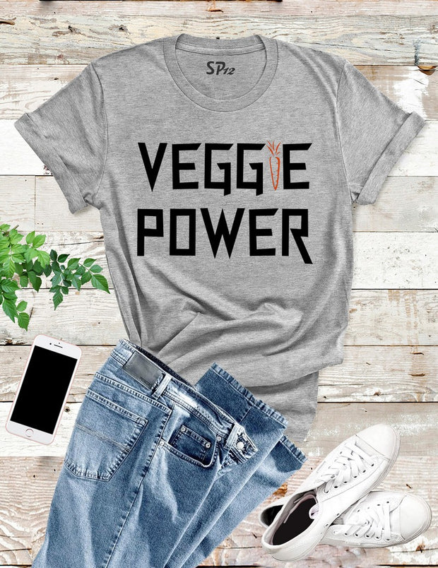 Veggie Power Vegan  T Shirt