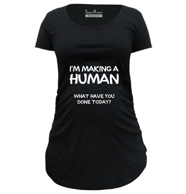 Making Human Funny Pregnancy Maternity T Shirts