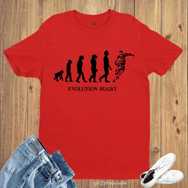 We Didn't Evolve We Were Born To Play Rugby Sports T shirt