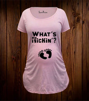 What's Kickin Maternity T Shirt