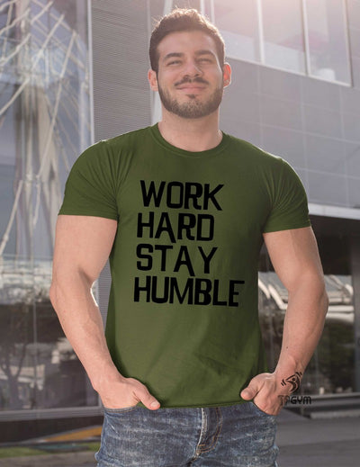Work Hard Stay Humble Fitness T Shirt