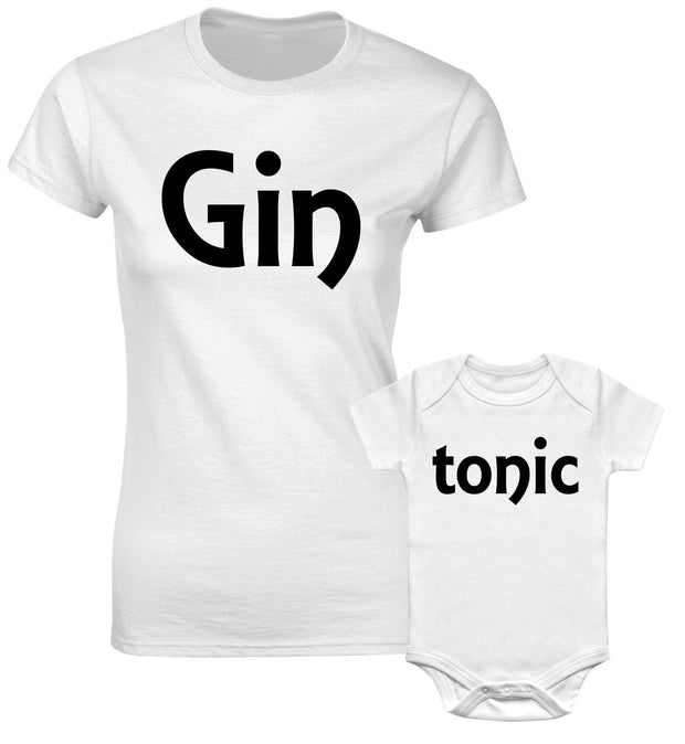 Gin And Tonic Mother Mum Aunty Mummy Daughter Matching T shirts