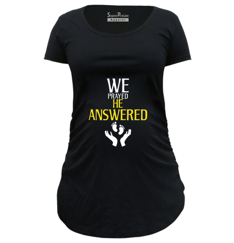 He Answered Christian Pregnancy T Shirt
