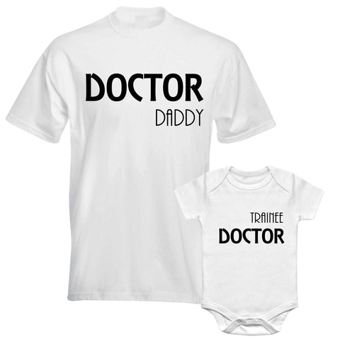 Father Daddy Daughter Dad Son Matching T shirts Doctor Daddy Trainee Doctor