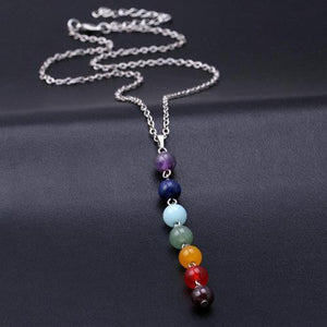 7 Chakra Healing Stone Pendant Necklace - Whole Body Source
