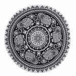 Round Elephant Mandala Throw - Whole Body Source