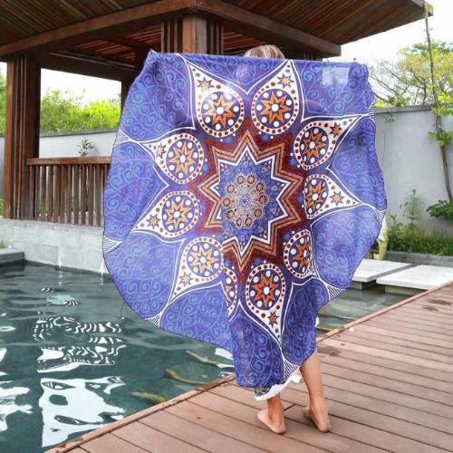 Round Hippie Chiffon Throw - Whole Body Source