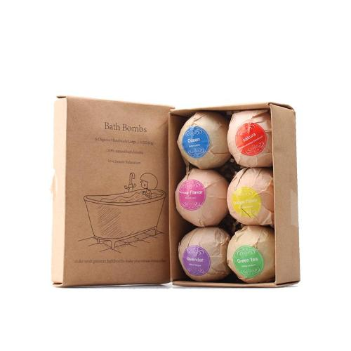 6pc Handmade Organic Bath Bomb Gift Set - Whole Body Source
