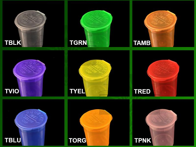 19 Dram TRANSPARENT MIX Pop Top Containers 900/Box