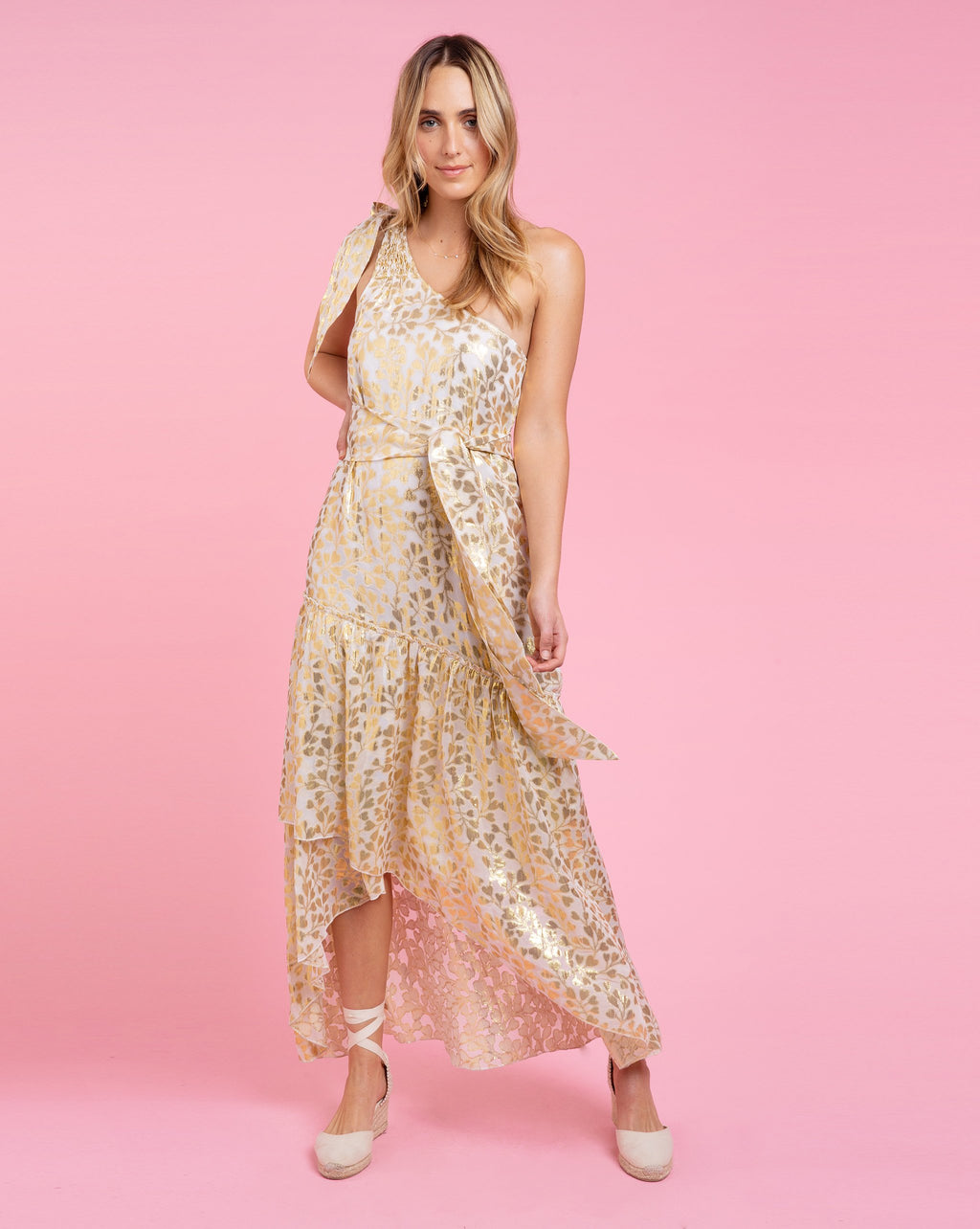 Amelia Dress - Azalea Gold