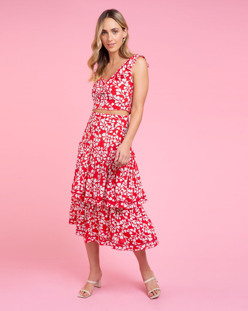 Brooke Skirt - Azalea Red