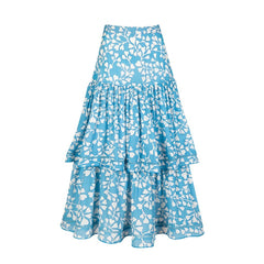 Brooke Skirt- Azalea Cornflower