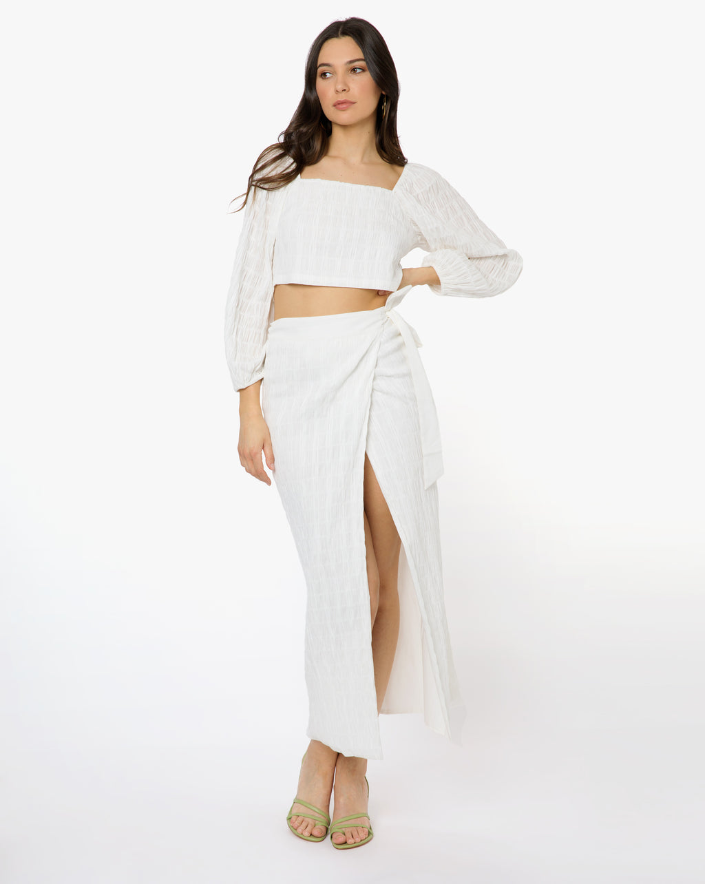 Audrey Skirt - Solid White