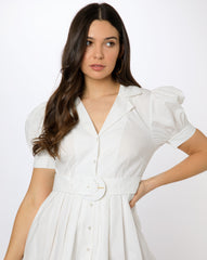 Finley Dress - Solid White