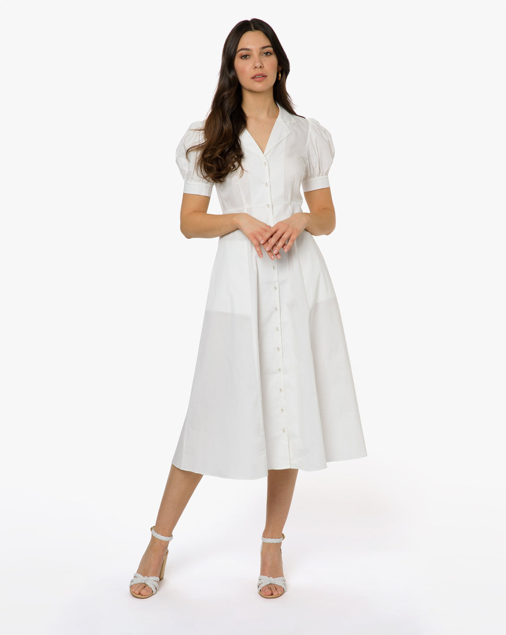 Gabriella Dress - Solid White