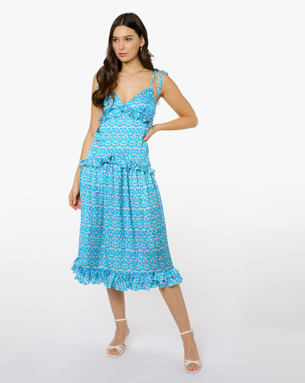 Georgia Dress - Eden Blue