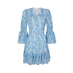 Gracie Dress - Retro Azure
