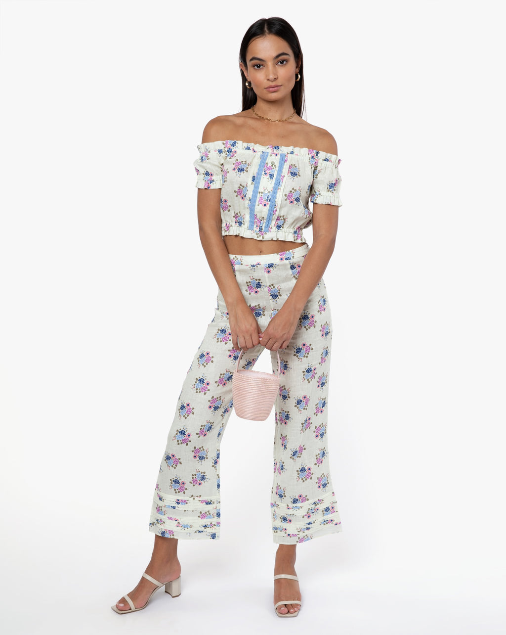 Jade Pant - Rose Blue