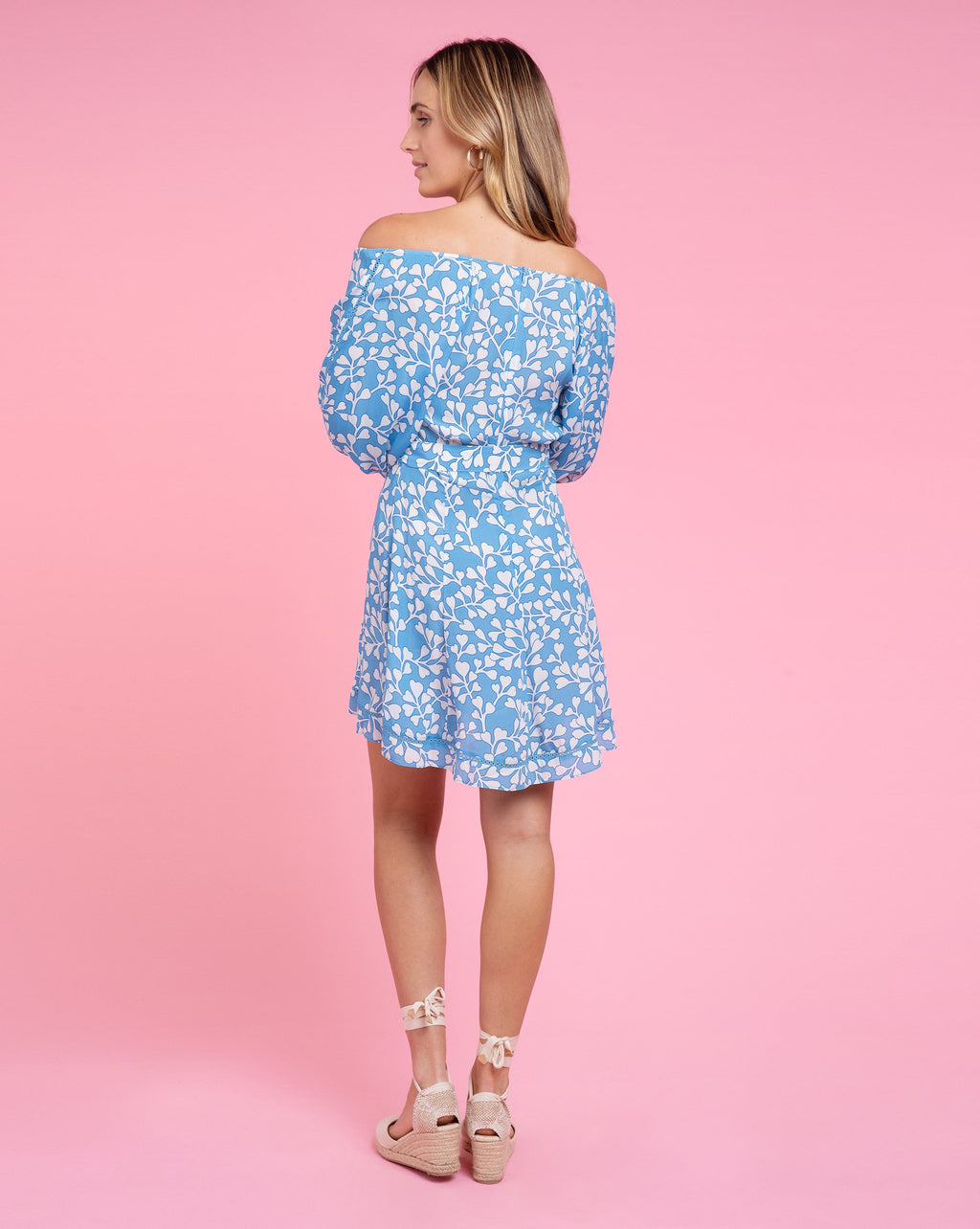 Heather Dress - Azalea Cornflower