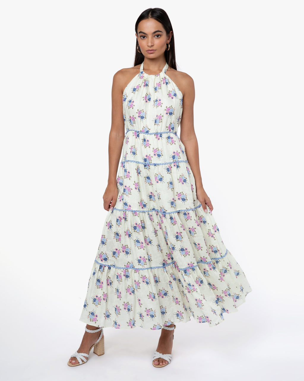 India Dress - Rose Blue