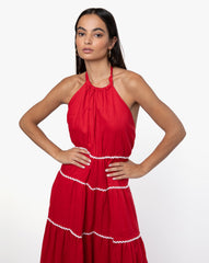 India Dress - Solid Rouge