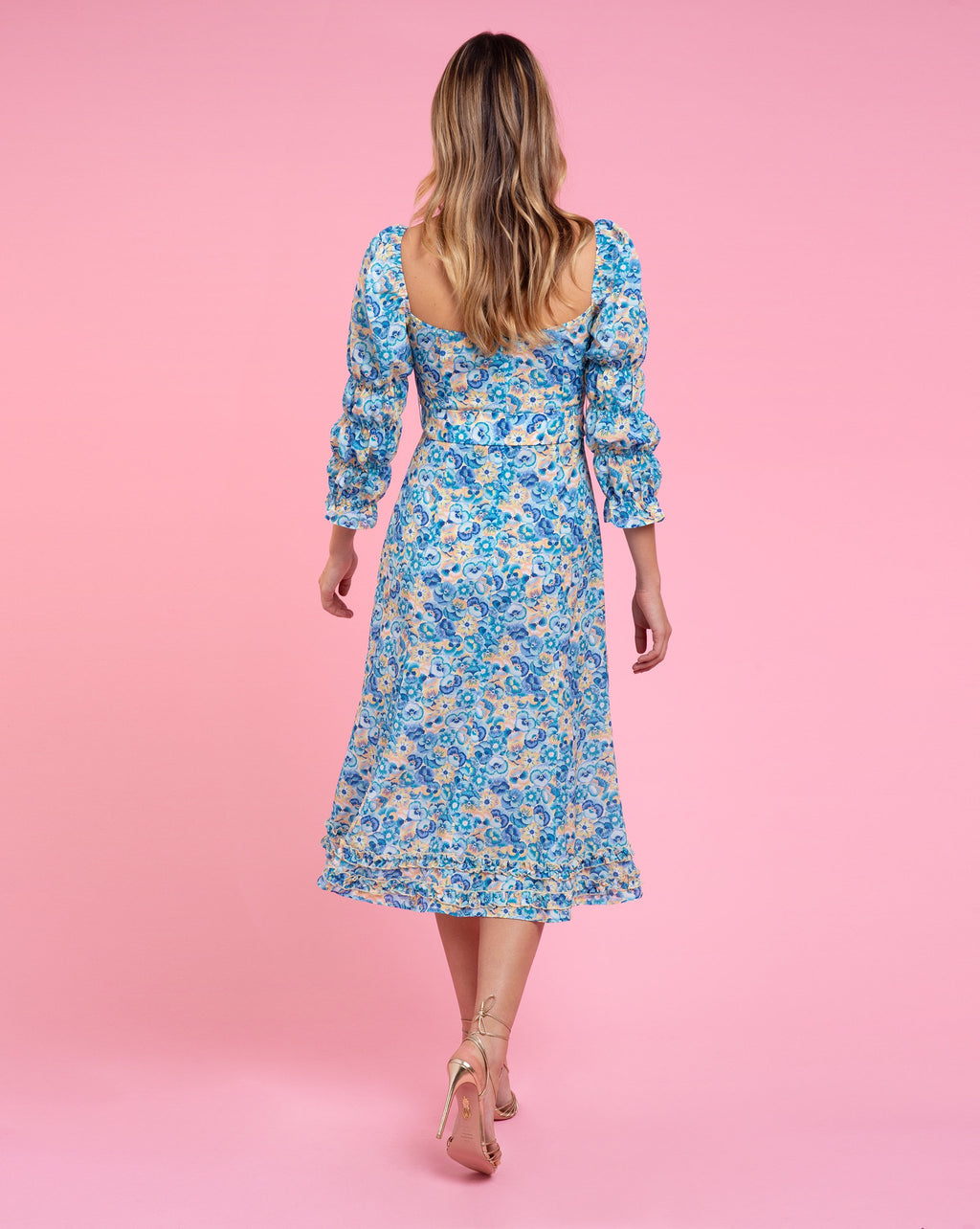 Isla Dress - Pansy Blue