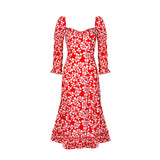 Isla Dress - Azalea Red
