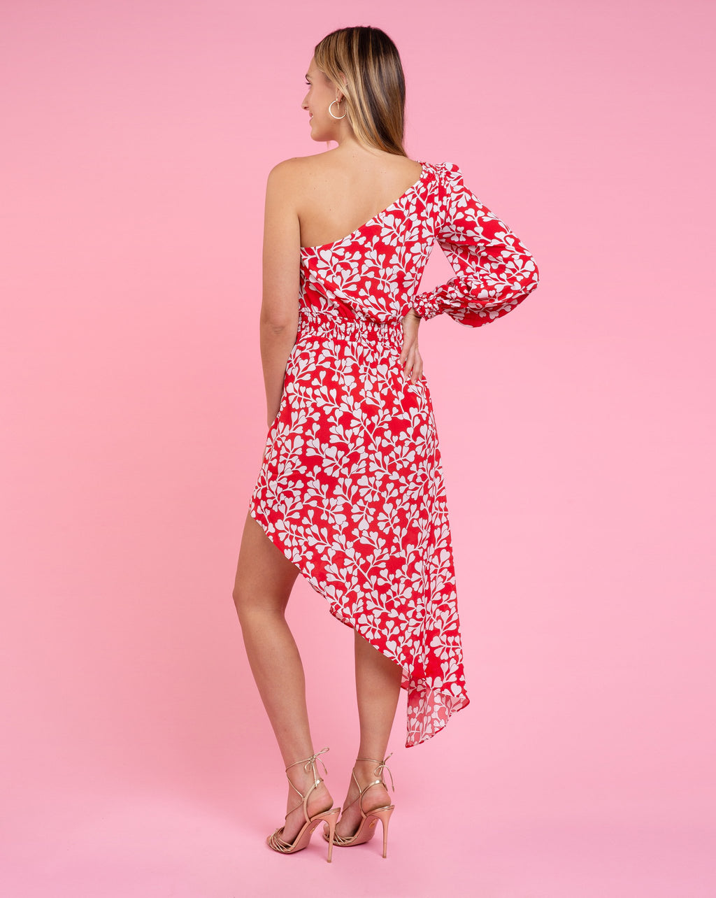 Juliette Dress - Azalea Red