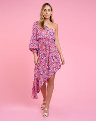 Juliette Dress - Pansy Pink