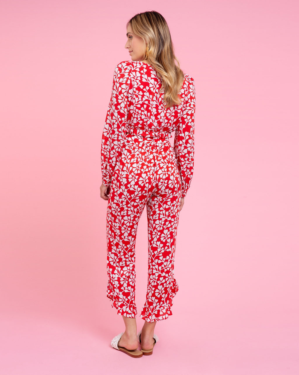 Piper Pant - Azalea Red