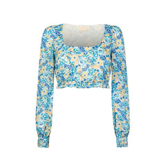 Kira Top - Pansy Blue