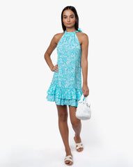 Lola Dress - Sunflower Aqua