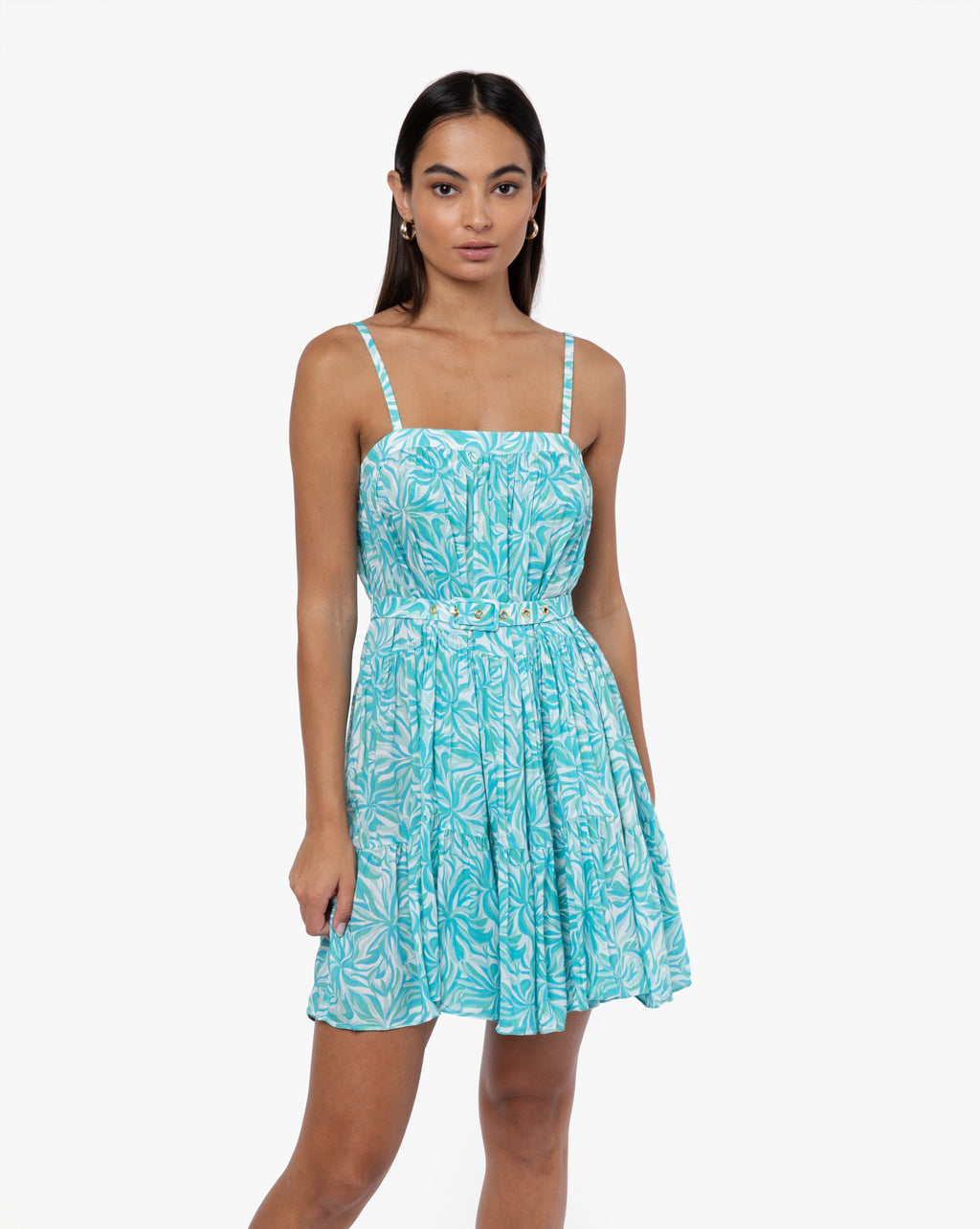 Matilda Dress - Sunflower Aqua