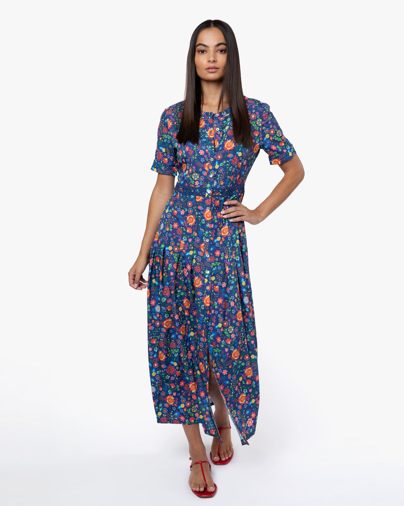 May Dress - Boho Navy