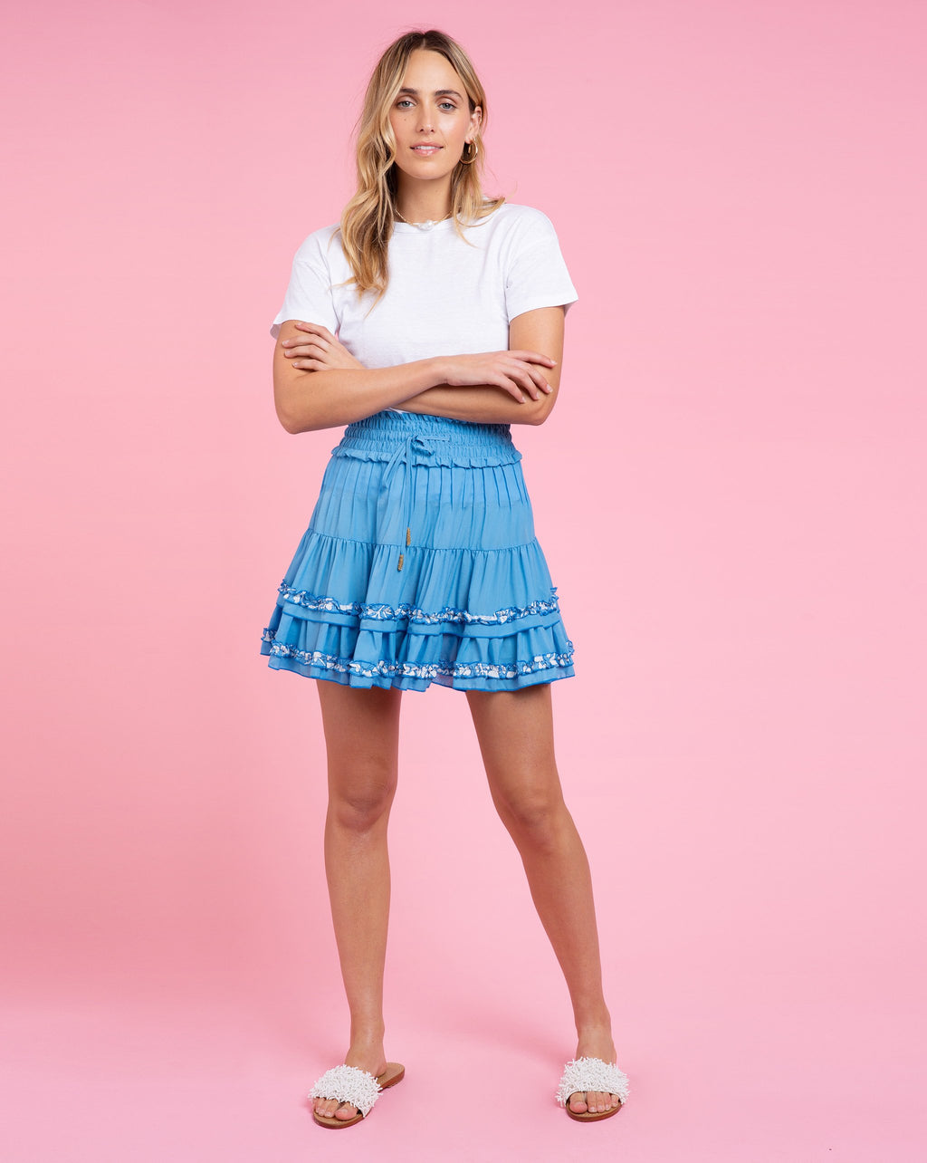 Maya Skirt - Solid Blue