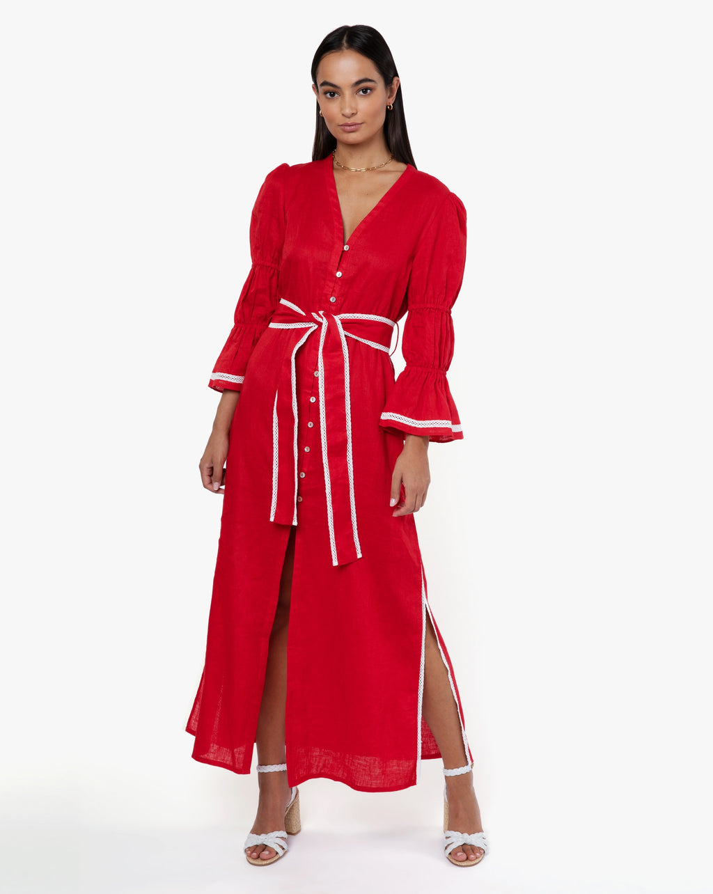 Meredith Dress - Solid Rouge