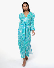 Meredith Dress - Sunflower Aqua