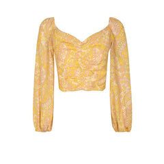 Noa Top - Retro Gold