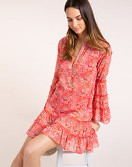 Leora Cover Up - Bloom Red