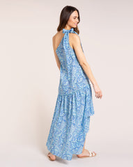 Giselle Dress - Retro Azure