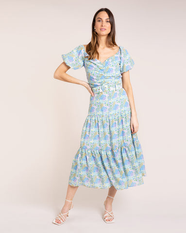 Evie Dress - Bloom Sky