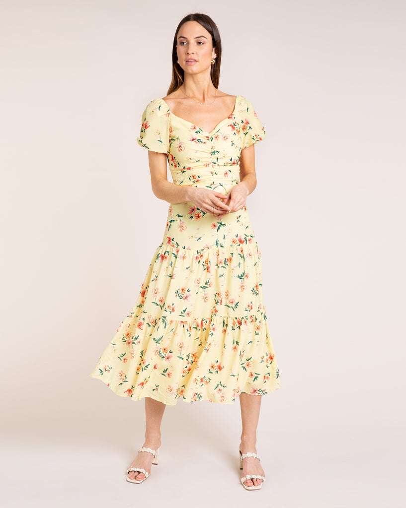 Evie Dress - Fleur Yellow