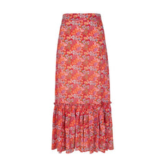 Romy Skirt - Bloom Red