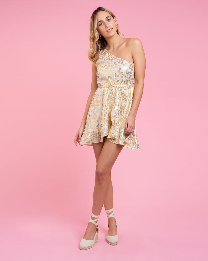 Sadie Dress - Azalea Gold